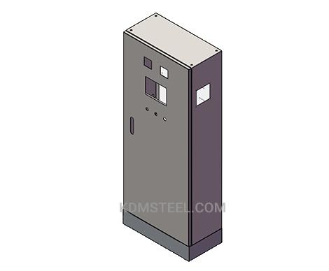 single door carbon steel Vented Electrical Enclosure