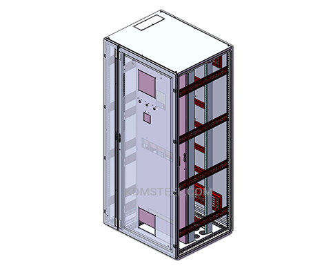 single door free standing IP55 enclosure with din rail
