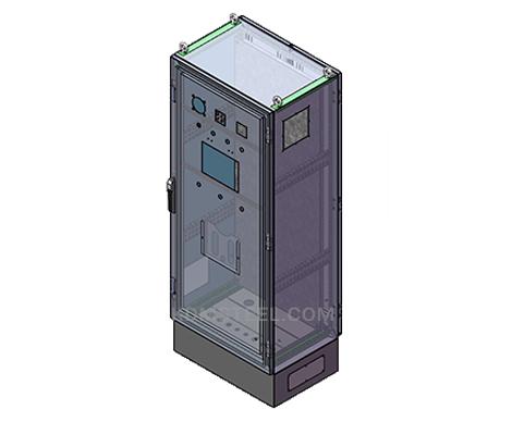 single door stainless steel free standing enclosure with door lock and viewing window