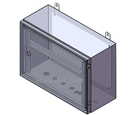 single door wall mount control panel enclosure