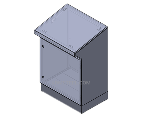single door washdown desk console enclosure