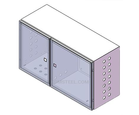 stainless steel double door nema 4x box enclosures