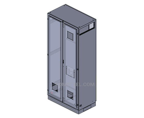 stainless steel free standing double door NEMA 3 enclosure