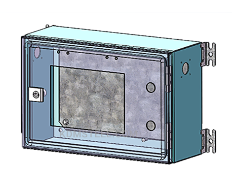 steel wall mount enclosure with lock