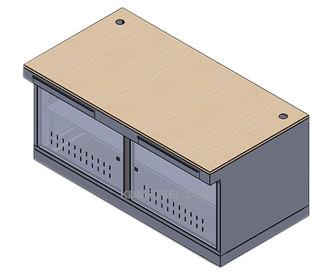 tabel desk console enclosure