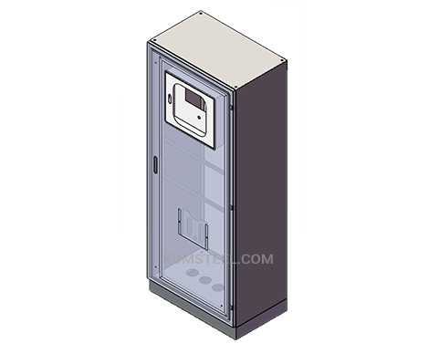 telecommunications enclosures with lock
