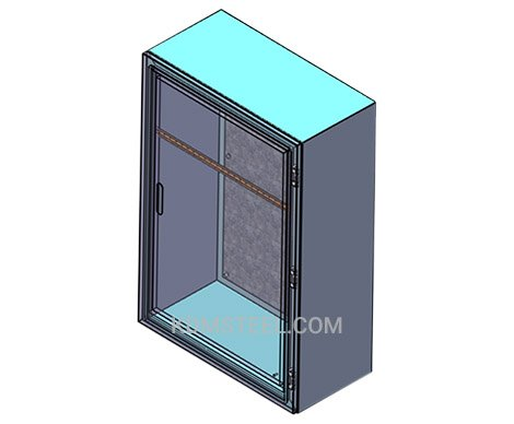 wall mount lockable industrial steel enclosure