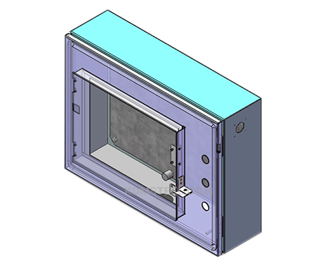 wall mount nema 13 enclosure with window
