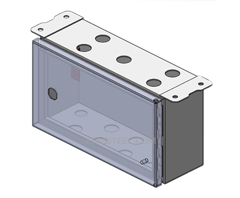 wall mount stainless steel IP56 battery enclosure