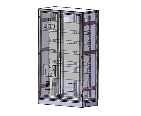 Double Door Enclosure with file pocket
