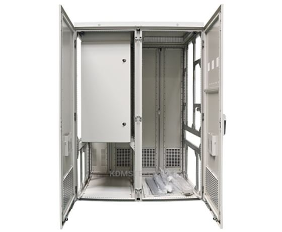 Free standing electrical enclosure with a door latch