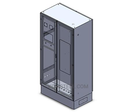 double door free standing lockable electrical enclosure