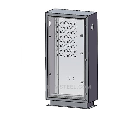 galvanized free standing single door electrical pedestal enclosure