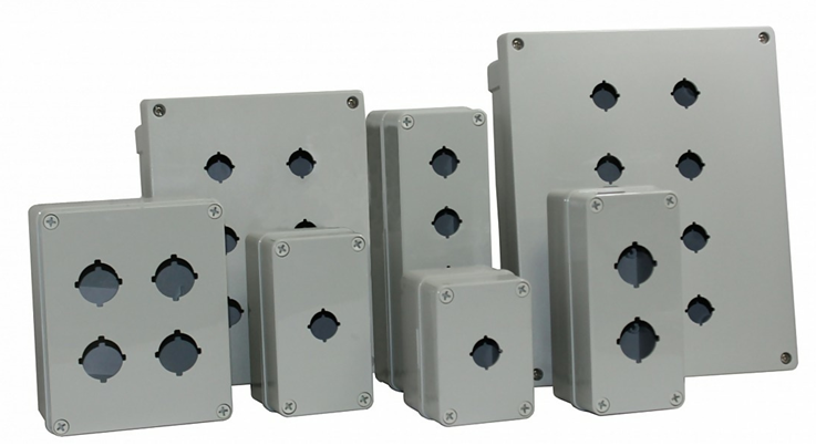 knockouts on a metal electrical enclosure