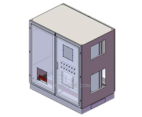 mild steel Double Door Enclosure
