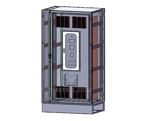 nema 4x free standing Double Door Enclosure with air filter