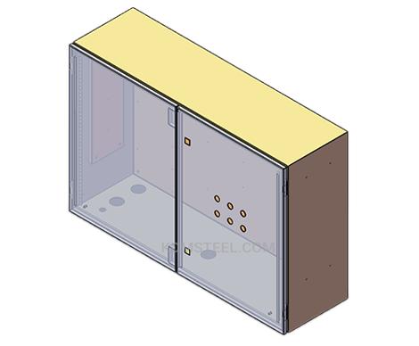 stainless steel double door NEMA 4 enclosure