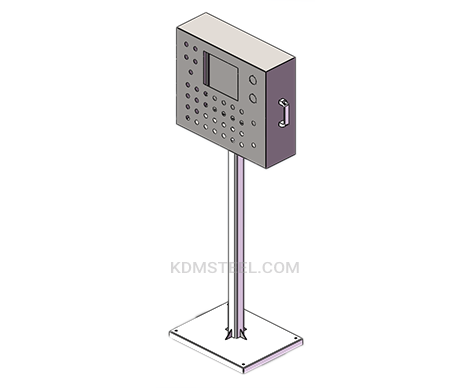 stainless steel electrical pedestal enclosure