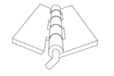 Bent pin