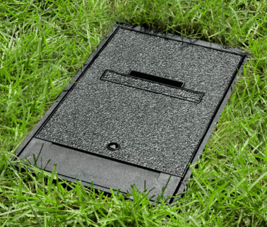 Enclosure recessed in soil
