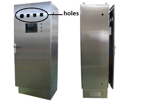 Enclosure with holes