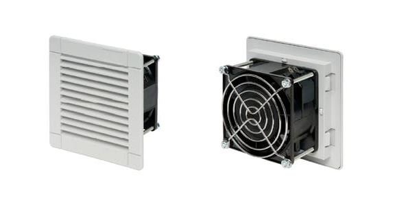 Enclosure ventilation fan with filters