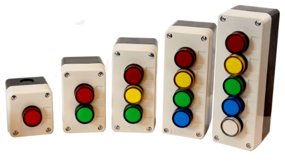 LED indicator lights and buttons