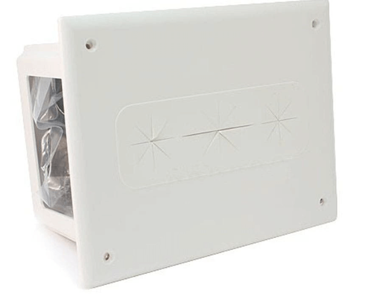 Plastic recessed enclosure