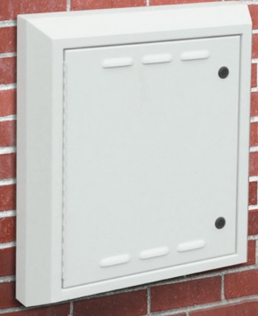 Recessed wall electrical enclosure