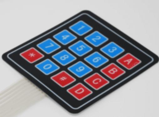 Small membrane keypad
