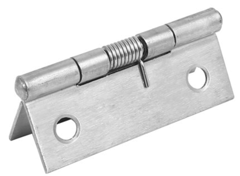Spring-loaded hinge