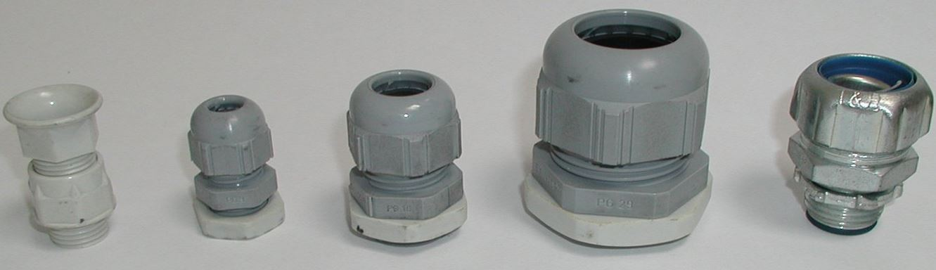 Different types of cable glands