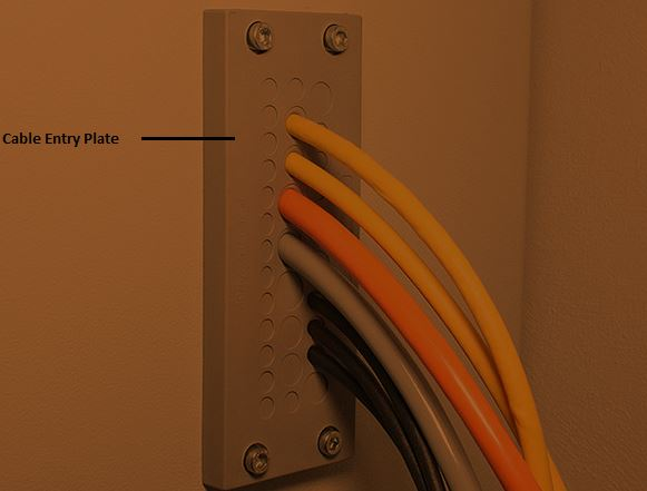 Cable entry plate