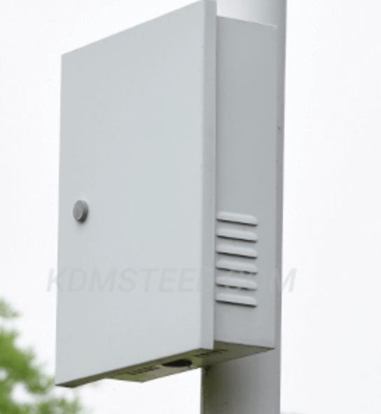 Pole-mounted outdoor telecom enclosure