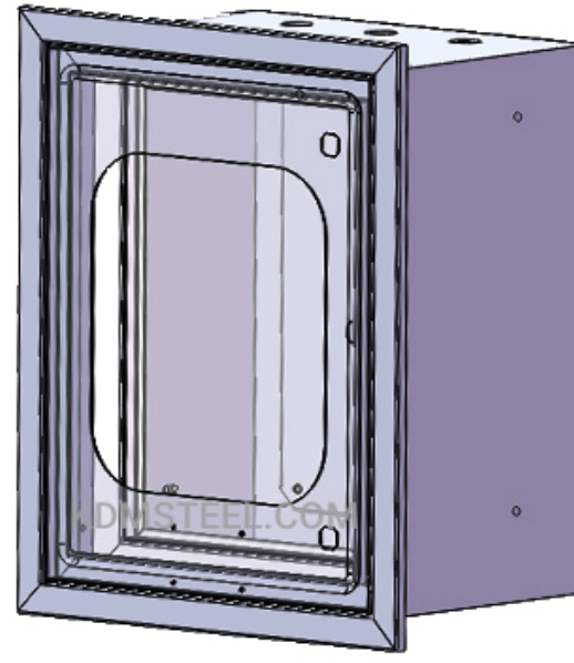 Recessed enclosure