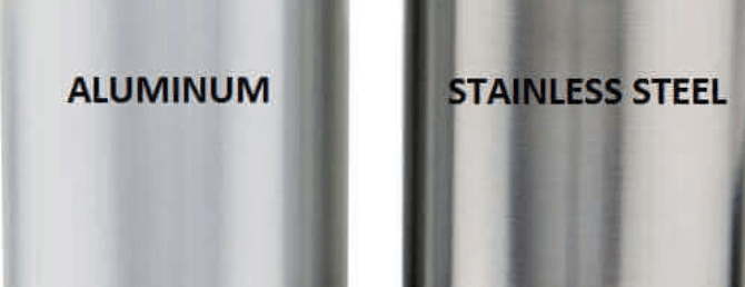 Aluminum vs stainless steel copy