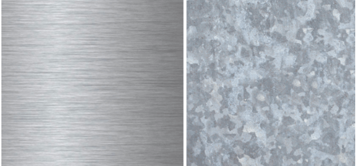 Stainless steel vs. galvanized steel copy