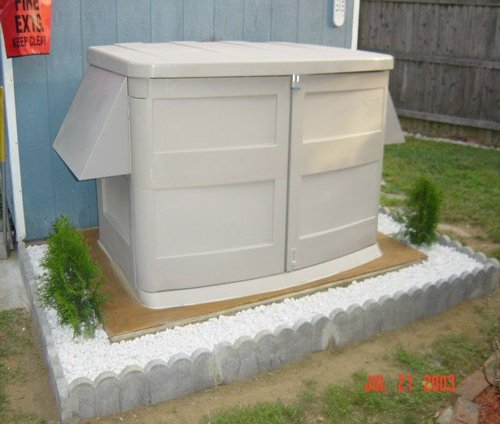 Rubbermaid Gas Generator Enclosure