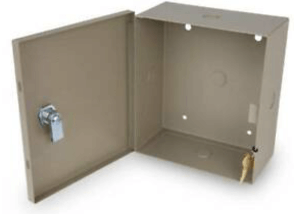 Enclosure with a lock