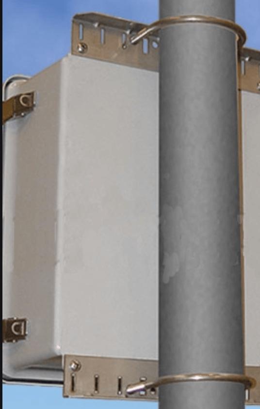Pole-mounted NEMA 2 enclosure