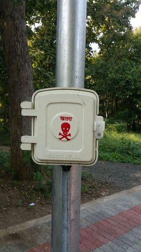 Street light pole box
