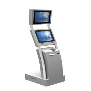 Dual Screen Computer Kiosk Cabinet