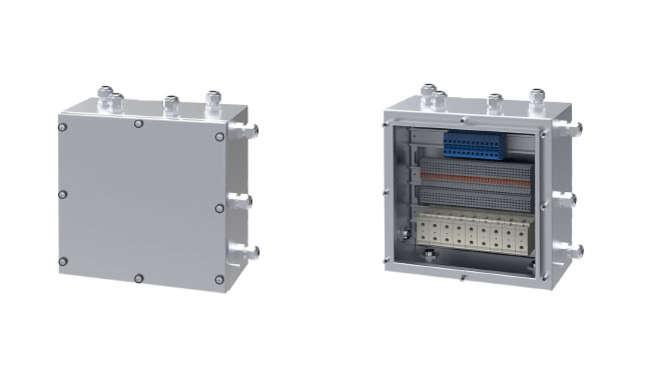 Wall-mounted marshalling box
