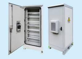 Galvanized Steel Fiber Optic Outdoor Battery Cabinet