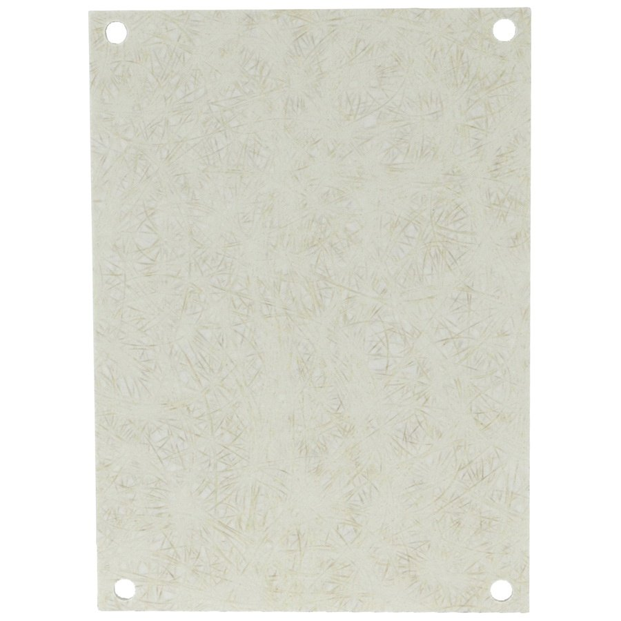 White Fiberglass Reinforced Polyester Electrical Enclosure Backplate
