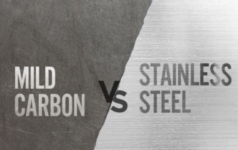 Carbon steel vs. stainless steel