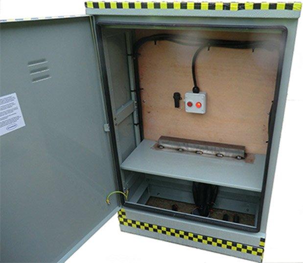 Inside electrical enclosure