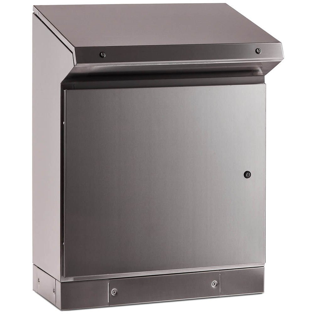Stainless steel desk console enclosure