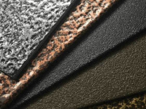 Powder coating finishes
