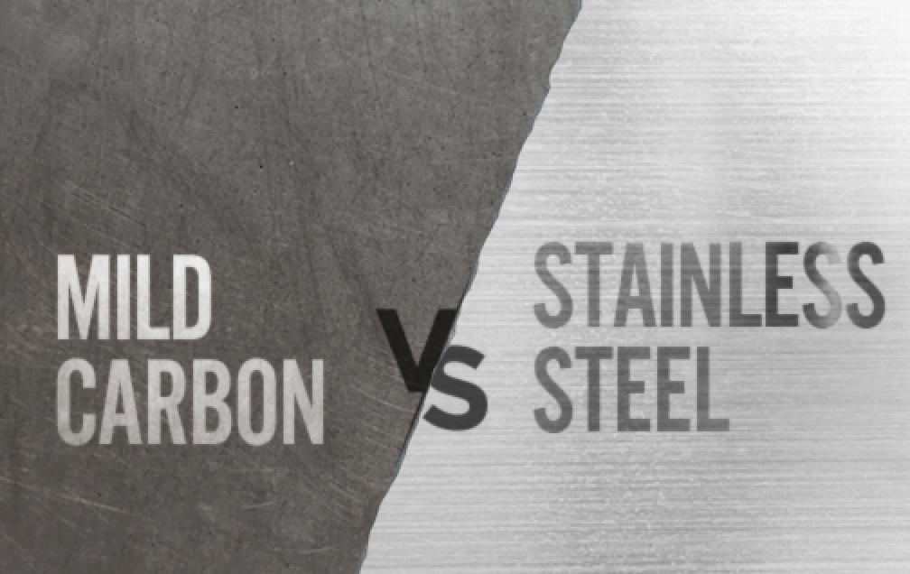 Carbon steel vs. stainless steel
